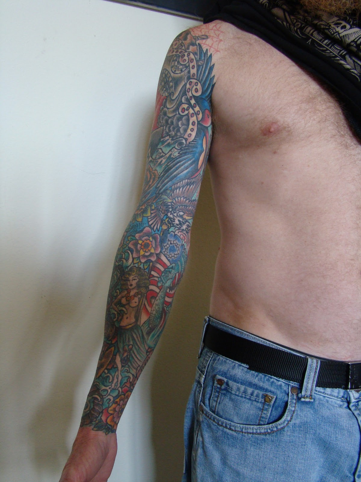 Traditional Tattoo Sleeves: Tattoos By Brent Senkbeil : Neo Traditional Sleeve With