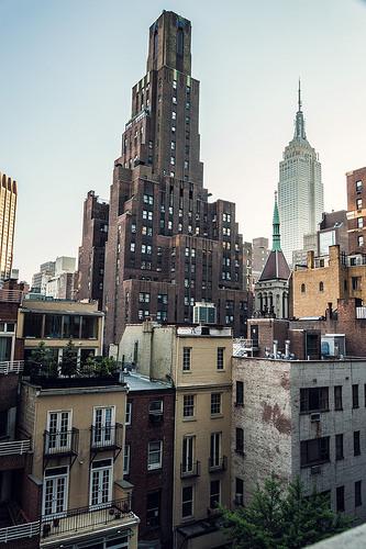 photo de la vue de l' ESB depuis l'hôtel The Court a Manhattan