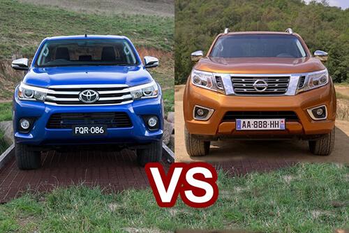 Toyota Hilux 2.4E MT 2019 và Nissan Navara 2019 E