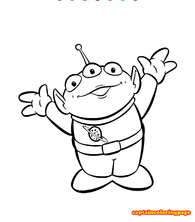 Alien Coloring Pages free Printable Coloring Page