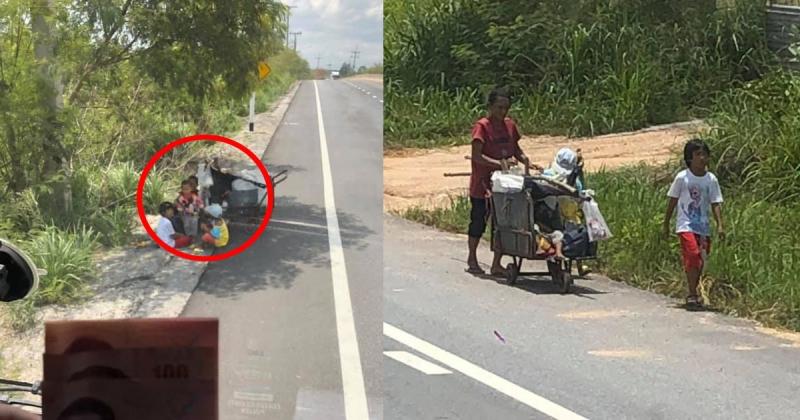 หนุ่มเห็น แม่ลูกเข็นรถเก็บขยะโซเซข้างถนน กลางแดด เข้าไปถามน้ำตาไหล ควักเงินแบ่งครึ่งหนึ่งที่มีติดตัวให้ทันที