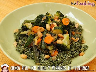 Quinoa real con algas y verduras