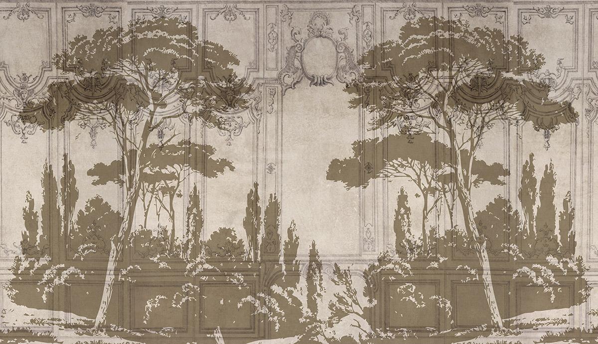 Best papier peint effet boiserie pictures for Papier peint boiserie haussmannienne
