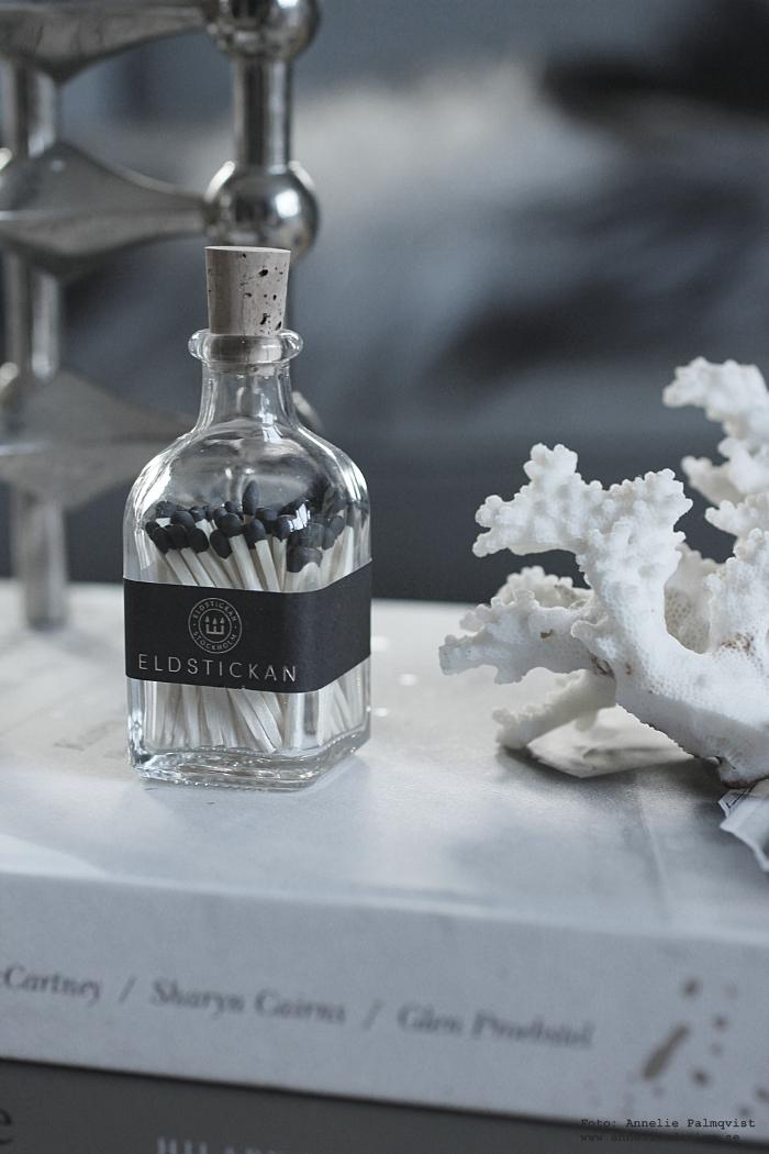 annelies design, webbutik, eldstickan, tändstickor i flaska, korall, nagel, ljusstake,