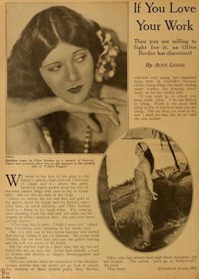 Olive Borden 1926 Article