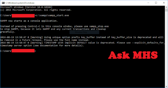 Start and Stop XAMPP in Windows with Command Prompt (CMD)