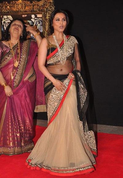 Opinion Rani mukherjee hot transparent saree