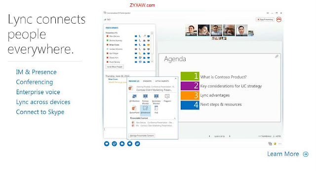 Get linked with Microsoft Lync, Unified Communicator (formerly Microsoft Office Communicator)