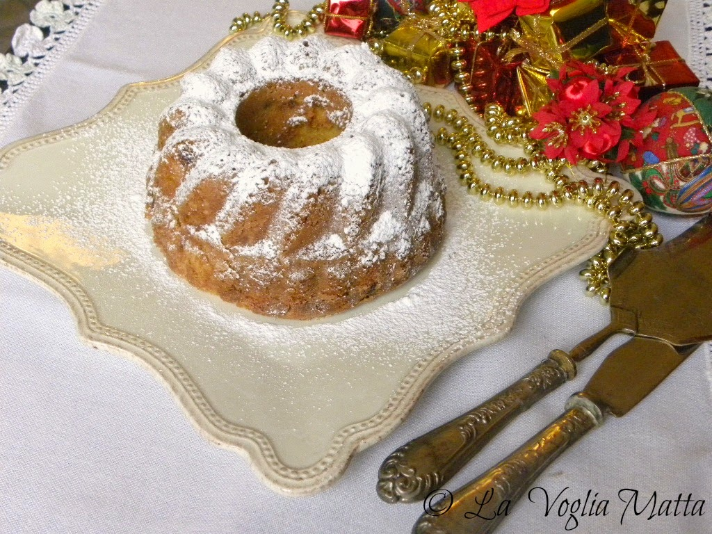 dolce natalizio ai mirtilli rossi e zabaione