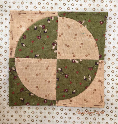 Dear Jane Quilt - Block B3 Mirror Image