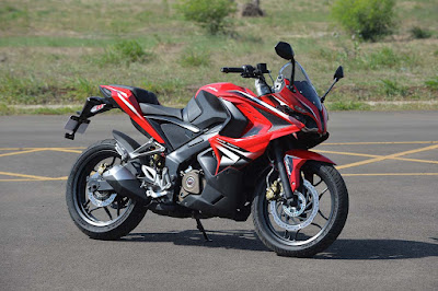 Bajaj Pulsar RS 200 Red Colour Image 2