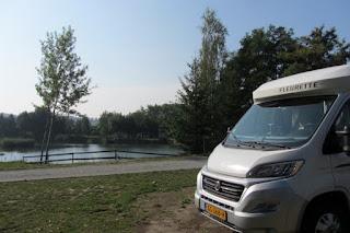 camperplekje op camping Forteca in Uniechow, Polen