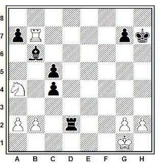Problema ejercicio de ajedrez número 732: Ortueta - Sanz (Madrid, 1934)