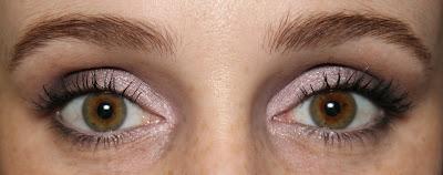 Colourpop lilac eyeshadow Eye Candy swatch eye look MAC copperplate carbon