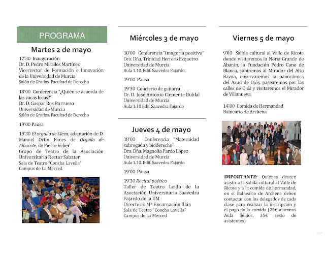 El Aula Sénior organiza su III Semana Cultural.