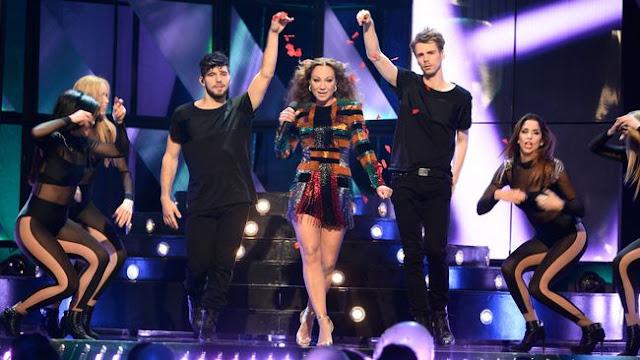 Charlotte Perrelli en el Melodifestivalen 2016 (Photo: SVT)