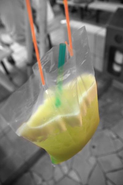 Sugar cane juice in plastic bag  Rational Vanity