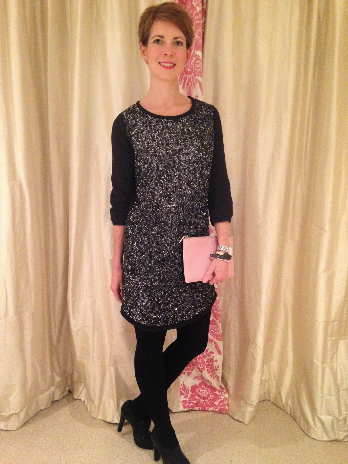 8ebcc657d820 The 12 outfits of Christmas, day 5 - sparkly sweatshirt dress ...