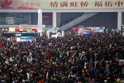 Inilah Penampakan Jutaan Warga China Mudik Saat Imlek