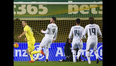 Villarreal 2 Real Madrid 3