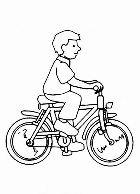 Gambar Mewarnai Bermain Sepeda - 6