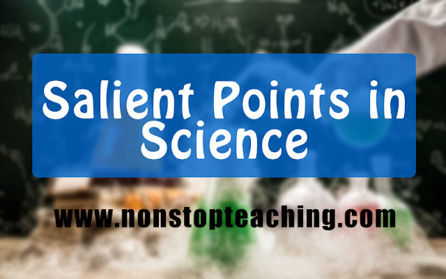 Salient Points in Science (Summary in Bullet Form)
