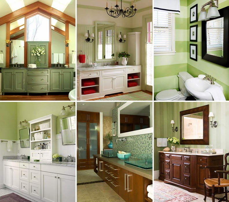 Home Interior Design Green Bathroom Design Ideas