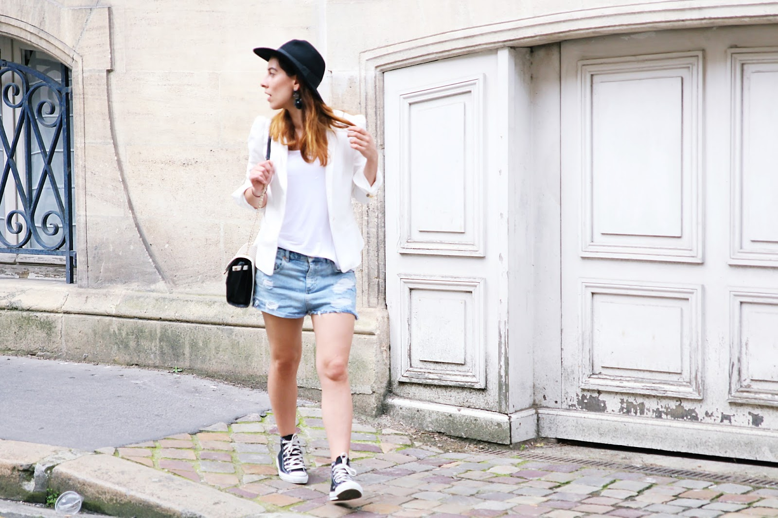White and Converse..