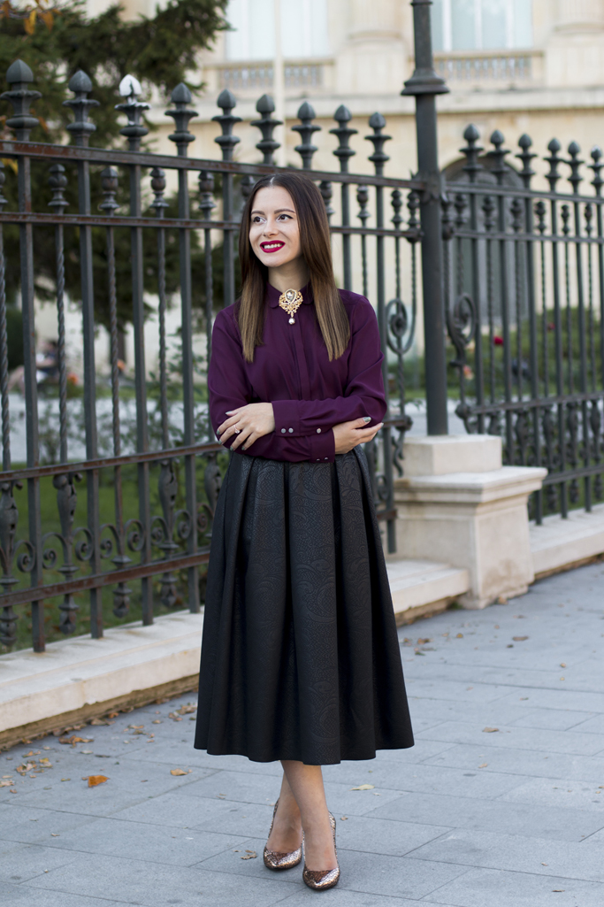 black midi skirt womanfashion