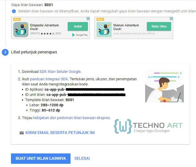 WildanTechnoArt-AdMob Petunjuk Penerapan Iklan