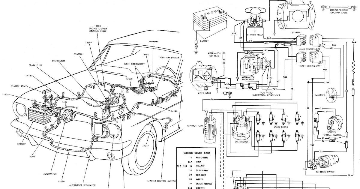 66 mustang alternator wiring diagram 2005 jeep grand cherokee limited lelu's mustang: 1966 diagrams