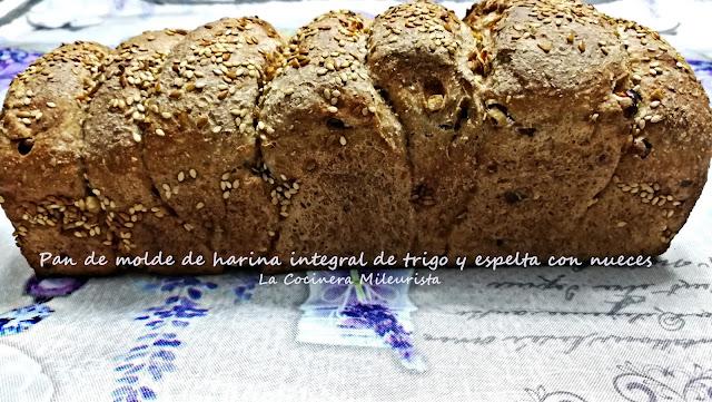 Pan De Molde De Harina Integral De Trigo Y Espelta Con Nueces