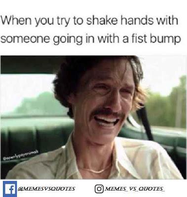 Hand shake meme