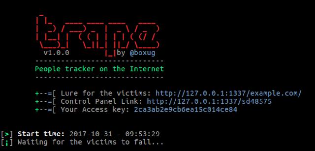 Trape - Rastreador de pessoas na Internet