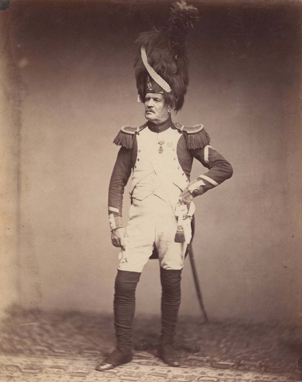Sergeant Taria in the uniform of the Grenadiere de la Garde of 1809-1815.