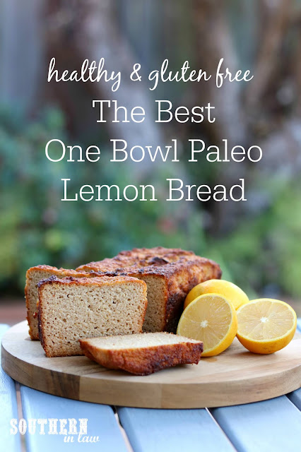The Best Healthy Paleo Lemon Bread Recipe – easy, one bowl recipe, gluten free, grain free, paleo, dairy free, refined sugar free, clean eating recipe