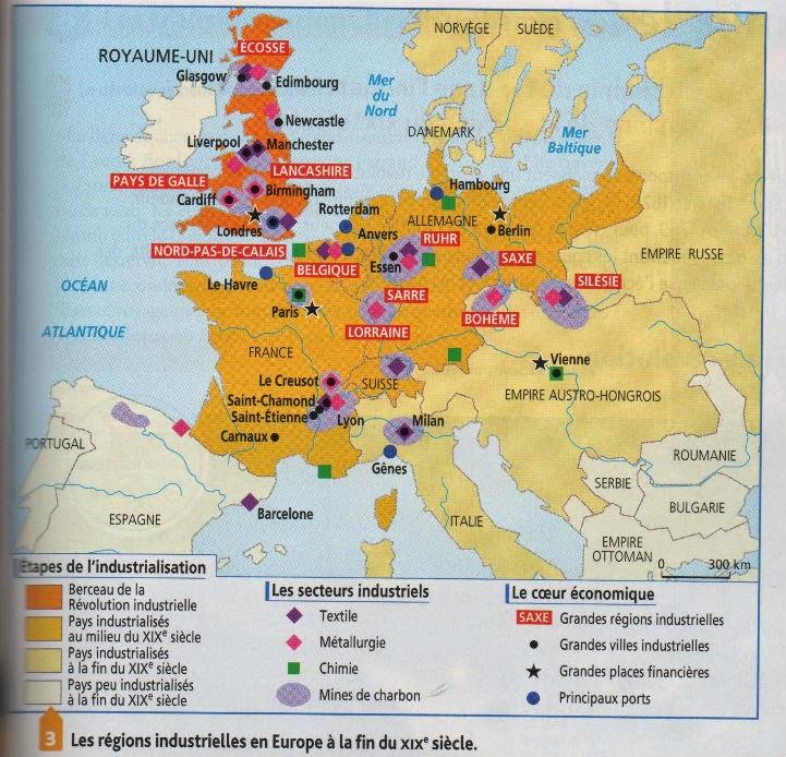 Carte De Leurope Industrielle Au Xixe Siecle.Carte De L Europe Industrielle Beurshelp