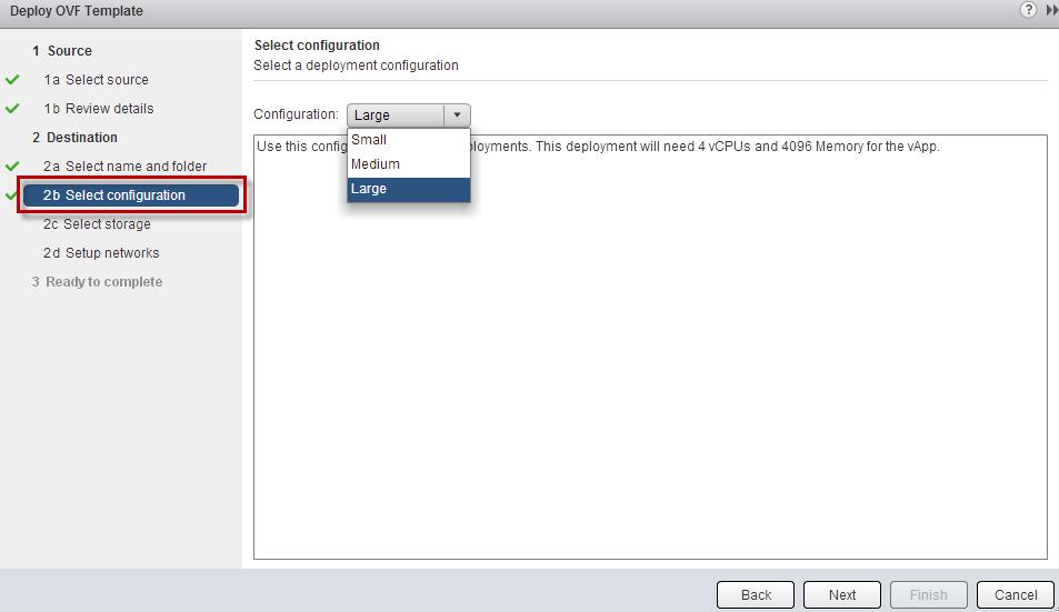 Flexible OVF deployments using Deployment Options (e g