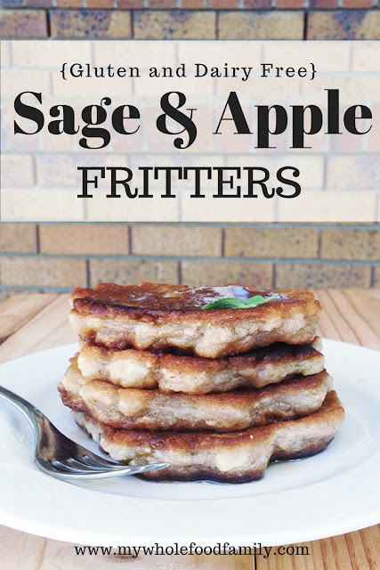 Sage and apple fritters - gluten and dairy free - from www.mywholefoodfamily.com