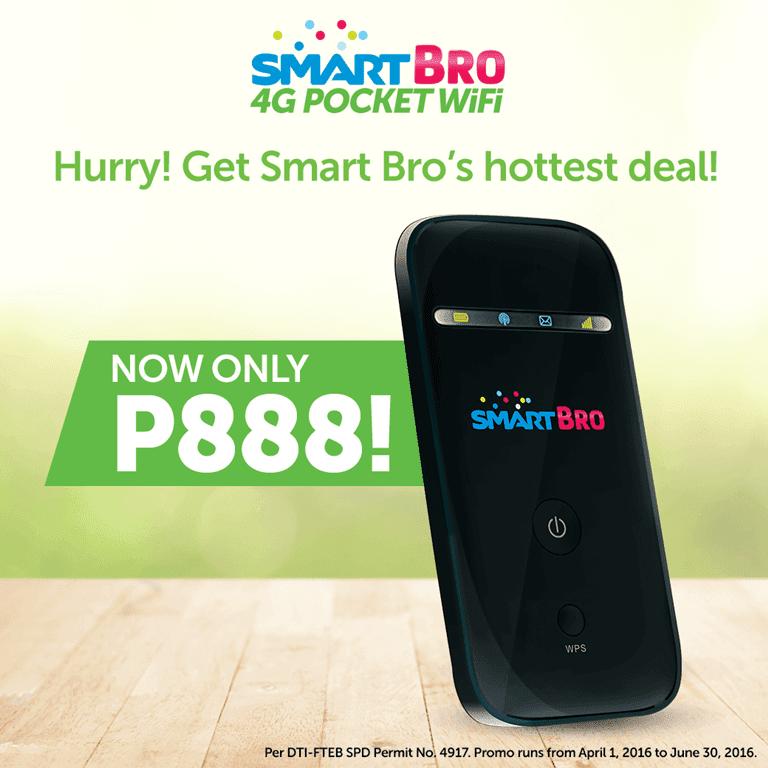 Sale Alert! SmartBro 4G Pocket WiFi Now 888 Pesos Only!
