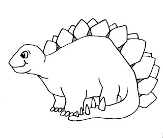 Cute Of Baby Stegosaurus Coloring Sheet