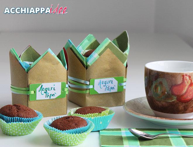 sacchetti origami festa del papà porta muffin
