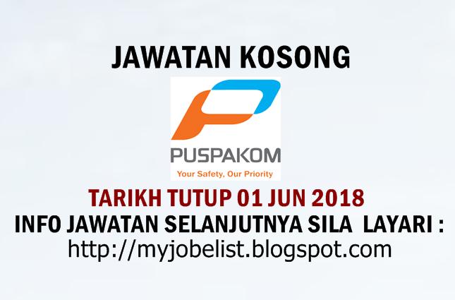 Jawatan Kosong Puspakom Sdn Bhd Jun 2018