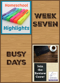 Homeschool Highlights - Week Seven: Busy Days on Homeschool Coffee Break @ kympossibleblog.blogspot.com