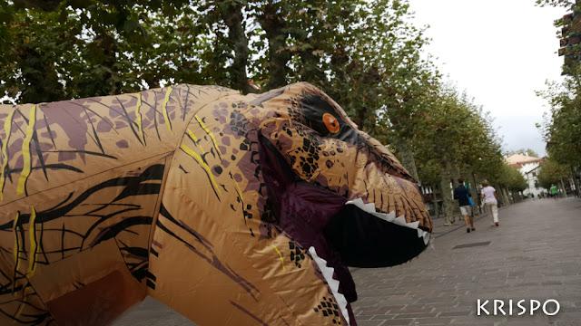 cabeza de T-rex