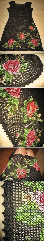 haftowana koronka siatkowa