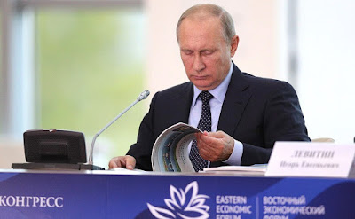 Vladimir Putin during State Council Presidium meeting.