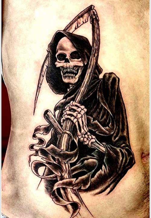 dark grim reaper tattoos azrail dövmeleri