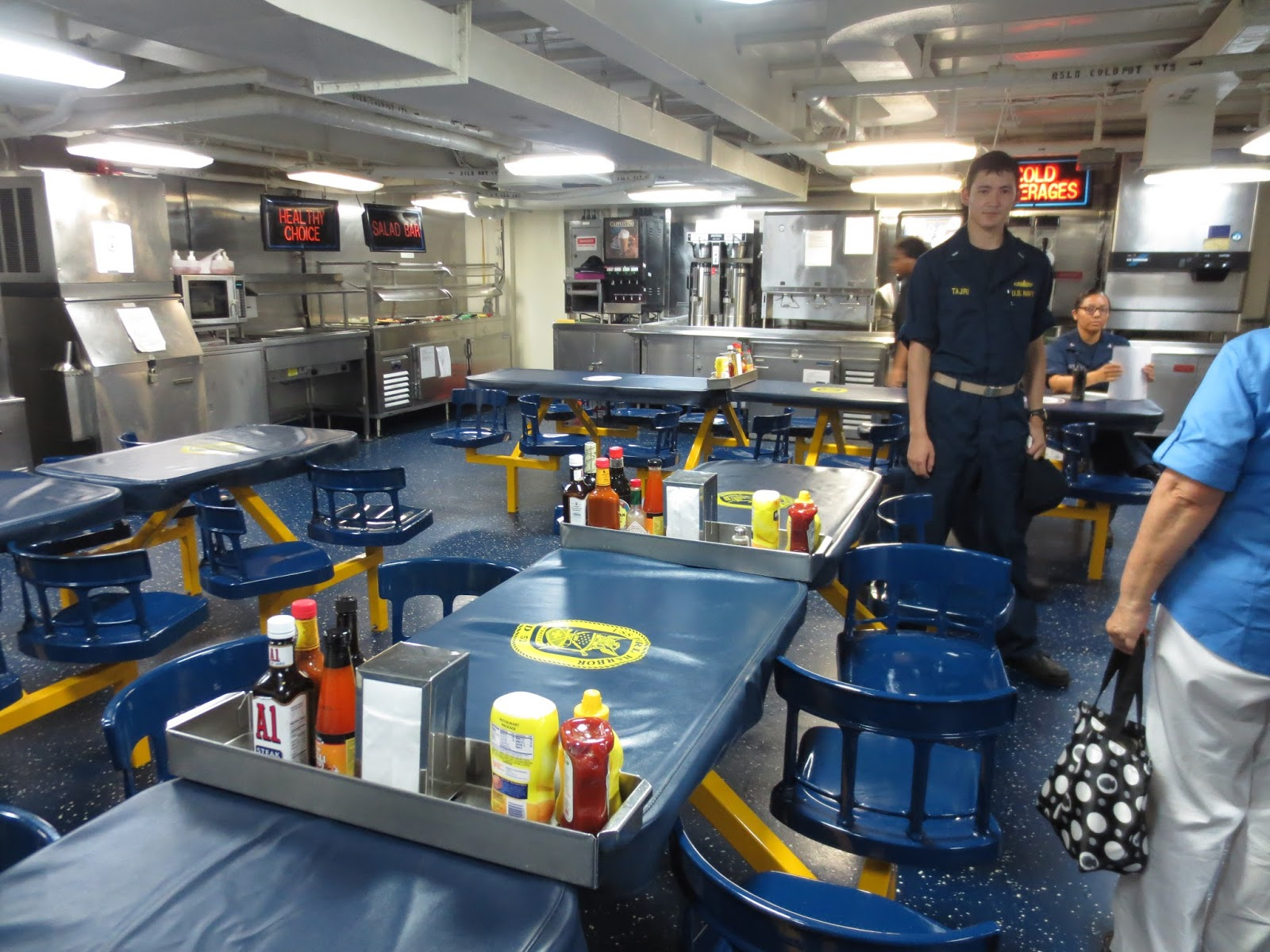 Val  Judy Bush Mission US Navy ship in Tarawa