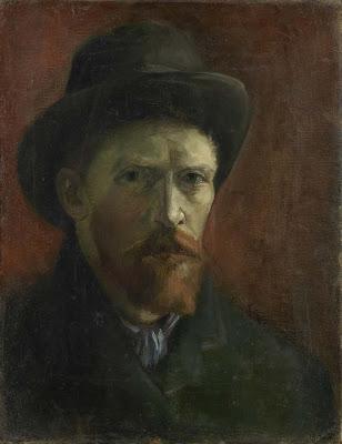 Vincent Van Gogh - Autoportrait au chapeau de feutre,1887.